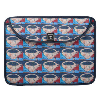 Teacups with Stars Sleeve For MacBook Pro