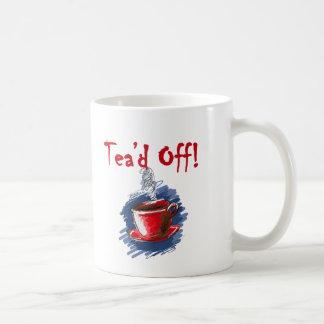 Tea'd apagado, taza de la fiesta del té del día de