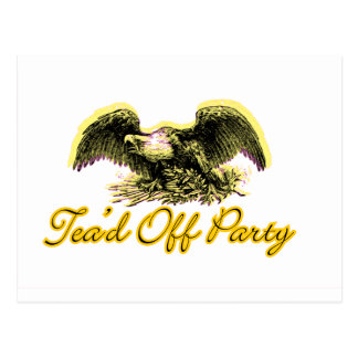 Tead Off Party Postcard