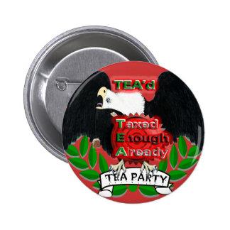 TEA'd Pin Redondo De 2 Pulgadas
