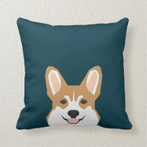 Teagan - Pembroke Welsh Corgi Dog Throw Pillow