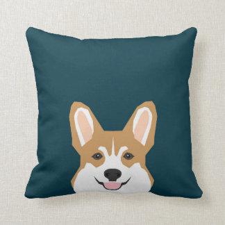 Teagan - Pembroke Welsh Corgi Dog Throw Pillow