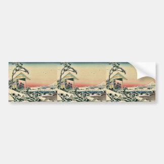 Teahouse,after a snowfall by Katsushika,Hokusai Bumper Sticker