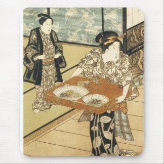 Teahouse at Edo Kumisada 1837 Mousepad
