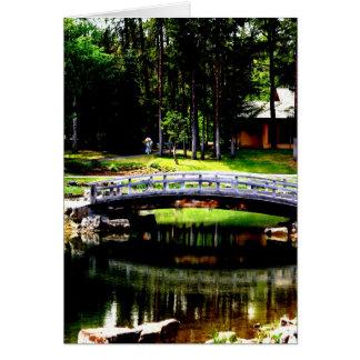 Teahouse Bridge Greeting Card