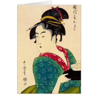 Teahouse Waitress 1793 Greeting Card