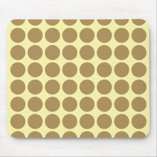 Teak Cream Neutral Dots Mouse Pad