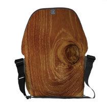 Teak Rustic Wood Grain Brown Nature Pattern Photo Courier Bag