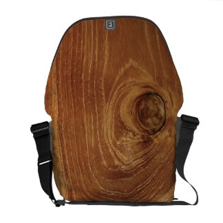Teak Rustic Wood Grain Brown Nature Pattern Photo Courier Bag