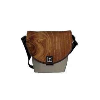 Teak Rustic Wood Grain Brown Nature Pattern Photo Messenger Bag