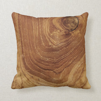 Teak Rustic Wood Grain Nature Wooden Cushion