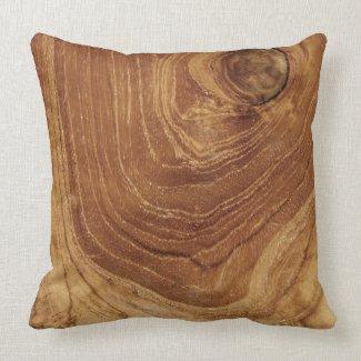 Teak Rustic Wood Grain Nature Wooden Cushion Pillow