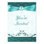 Teak Victorain Damask Wedding Invitation