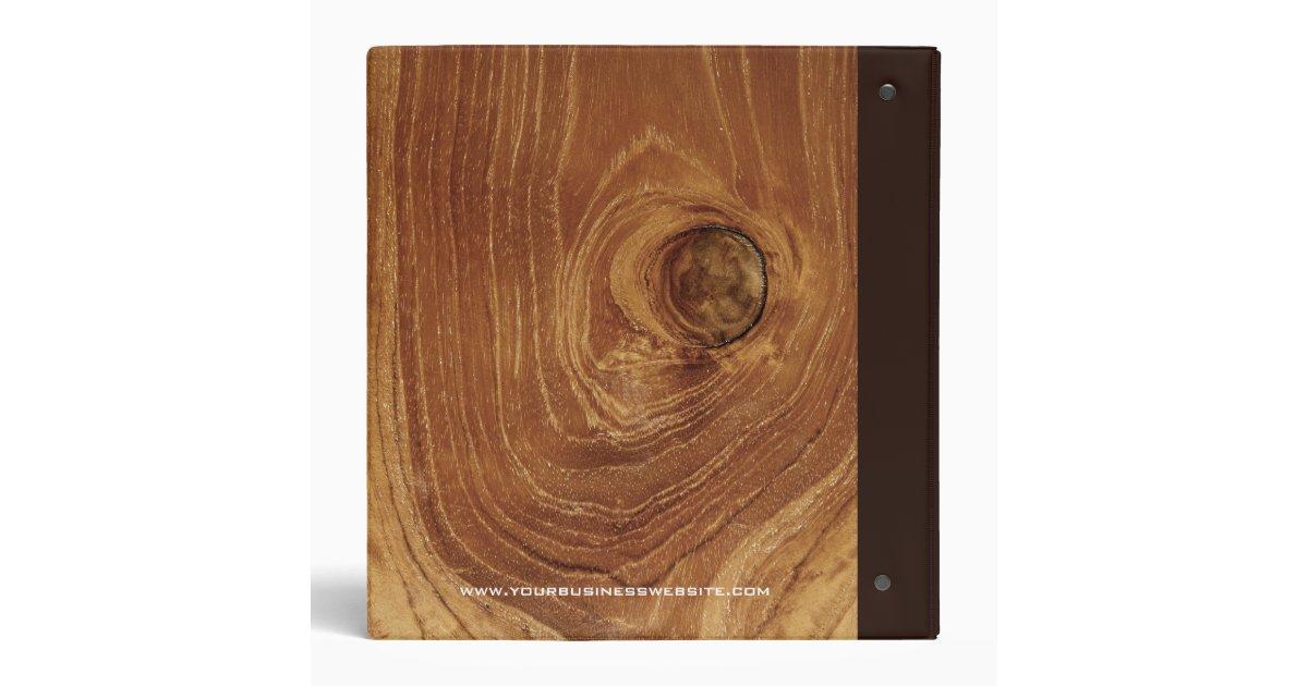 Teak wood grain wooden rustic texture photo binder zazzle