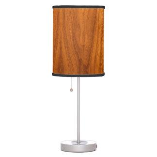 Teak Wood Veneer Desk Lamp