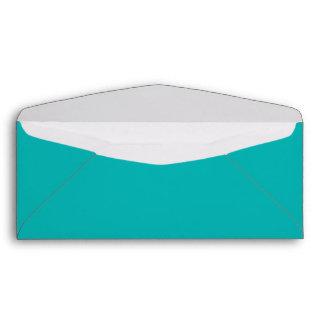 Teal #10 envelope