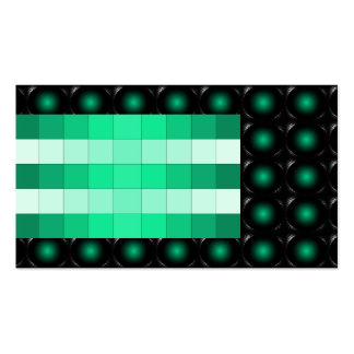 Teal 3D Illusion Unusual Business Card 5