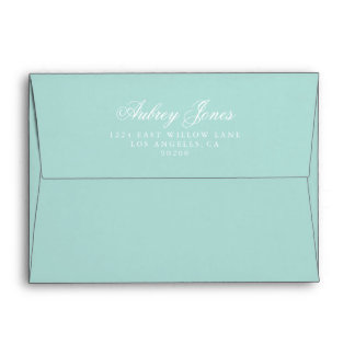Teal A7 Pre-Addressed Linen Envelopes Envelope