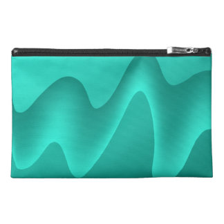 Teal Abstract Design Image. Travel Accessories Bags