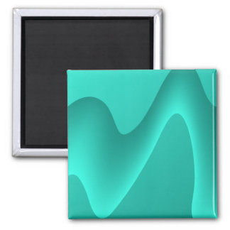 Teal Abstract Design Image. Magnet