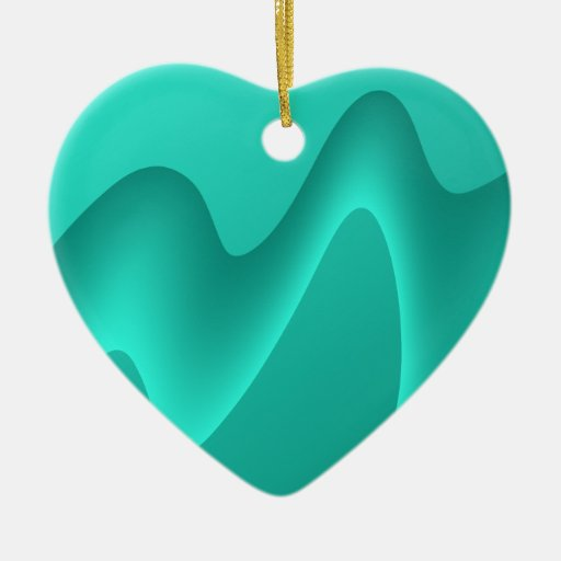 Teal Abstract Design Image. Christmas Tree Ornament