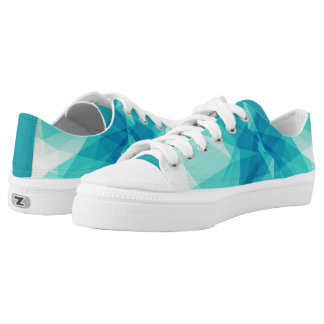 Teal Abstract Design Sneakers Printed Shoes