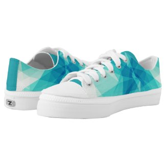Teal Abstract Design Sneakers