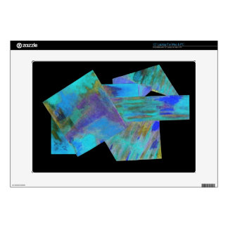 Teal Abstract Laptop Skin