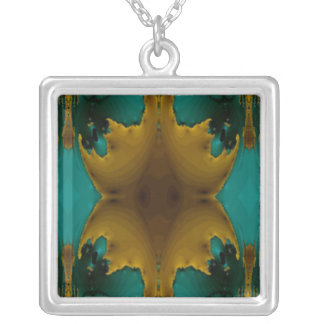 Teal Abstract Necklace