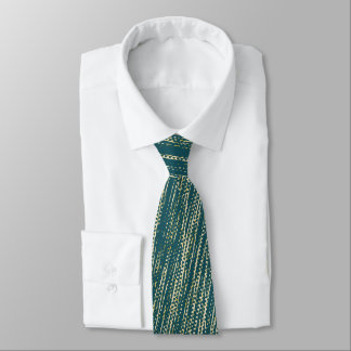 Teal Abstract Pattern Neck Tie