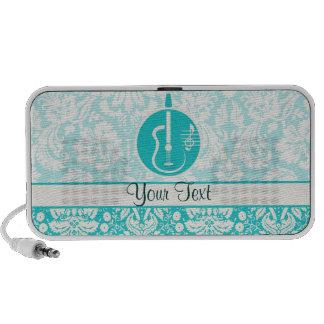 Teal Acoustic Guitars Notebook Speaker