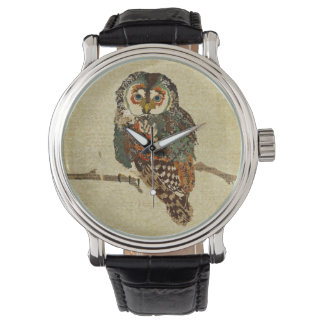 Teal & Amber Owl Watch