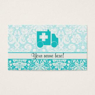 Teal Ambulance Business Card