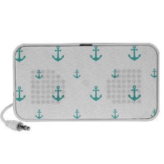 Teal Anchors Portable Speaker