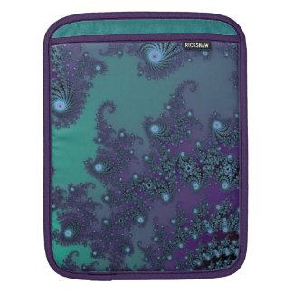 Teal and Amethyst Fractal Jewel Web Skins iPad Sleeve
