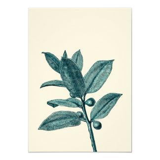 Teal and Aqua Exotic Plant Christian Wedding Card