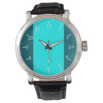 Teal and Aqua Suit Wrist Watch
