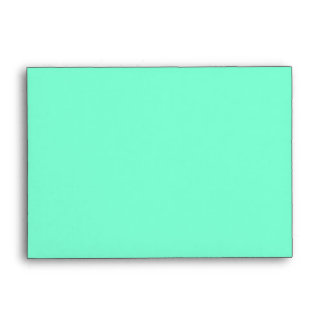 Teal and Aquamarine Keep Calm and Carry On Envelope