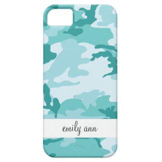 Teal and Aquamarine Urban Camoflage Pattern iPhone SE/5/5s Case