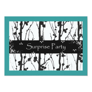 Teal and Black All Occasion Surprise Party Card
