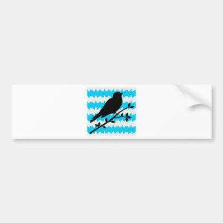 Teal and Black Bird Bumper Sticker