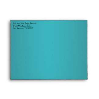 Teal and Black Envelope for Small Thank You Card