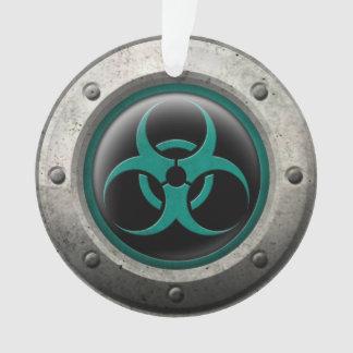 Teal and Black Industrial Biohazard Steel Effect