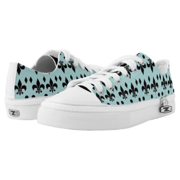 Beach Themed Teal and Black Nautical Anchors Shoes