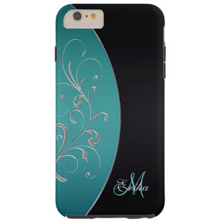 Teal and Black Personalized iPhone 6 Plus Case
