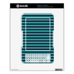 teal and black stripes decal for the kindle 3