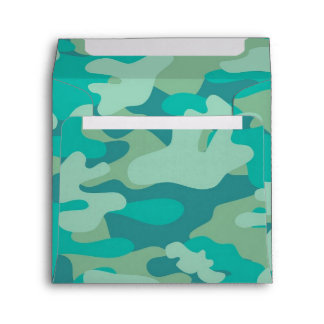 Teal and Blue Camo Envelope