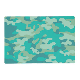 Teal and Blue Camo Placemat