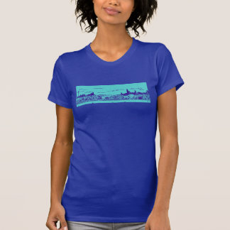 Teal and Blue Comic Style Chicago Women's T-Shirt