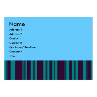 Teal and blue stripes business cards